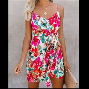 VICI floral mini dress